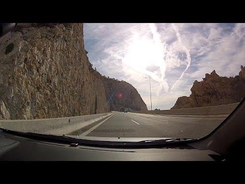 Drving on Olympia Odos & Attiki Odos from Lechaio to Agia Parasevi, Athens - onboard camera