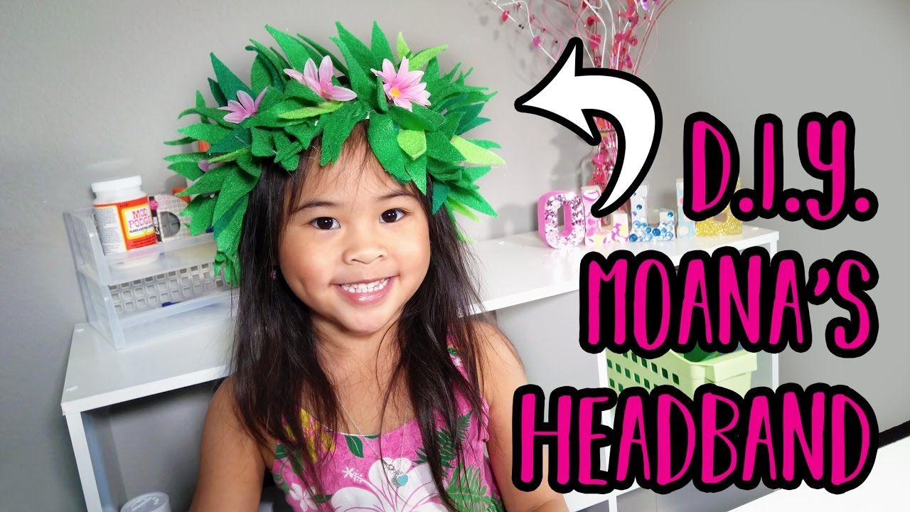 Diy Moana Headband Flower Headband Craft Moana Costume