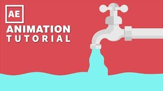After Effects Tutorial - Motion Graphics Water Tap Animation | Easy Way