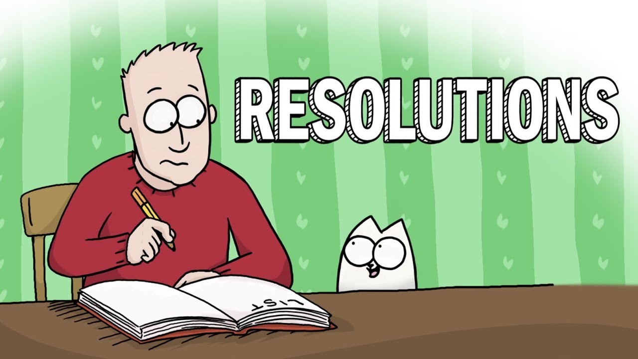 New Year Resolutions – Simon's Cat | GUIDE TO