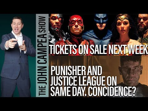 When Justice League Ticket On Sale, Marvel Screwing DC With Punisher Date? - The John Campea Show