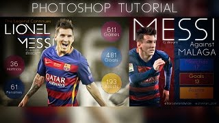 Tutorial | How to create cool Infographic sports image