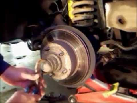 Replacing Brake Rotors on a F150 - YouTube
