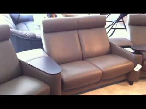 ekornes stressless arion home theater khaki paloma leather youtube