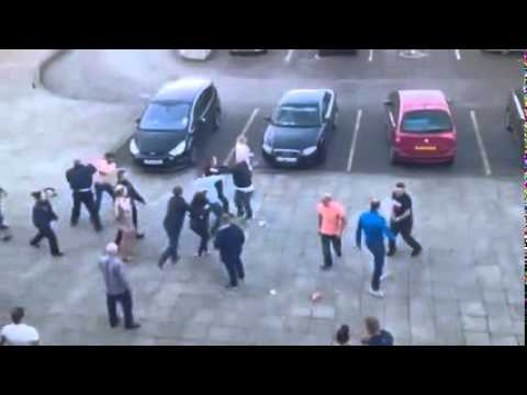 Mass Brawl At Xscape Castleford (29/03/2015) | BBC Radio Leeds