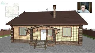 Проект компактного одноэтажного дома «Уют» B-281-ТП