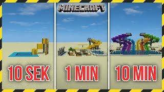 MINECRAFT: Budujemy PARK WODNY w 10 SEKUND, 1 MINUTĘ i 10 MINUT!
