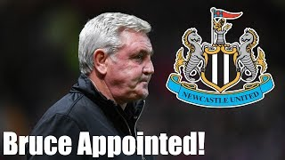 Steve Bruce appointed new Newcastle United manager at St James Park