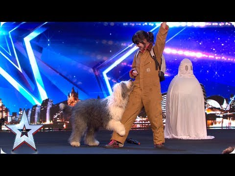 Doggy dance duo Piplin raise the woof! | Auditions | BGMT 2019