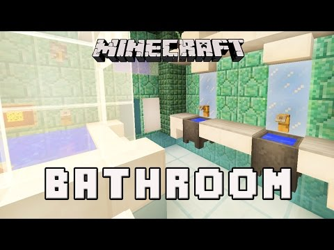 Bathroom Design Minecraft minecraft tutorial: how to make a modern bathroom design (modern