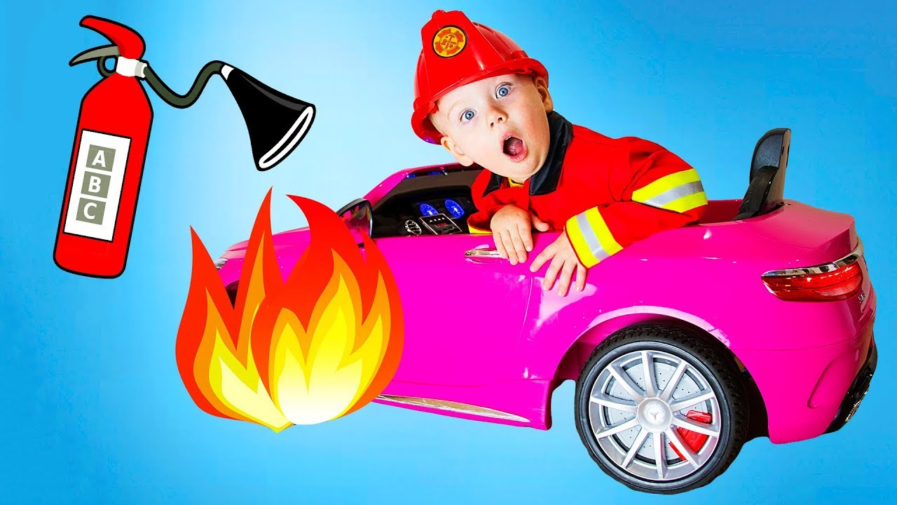 Gaby and Alex Firefighter Costume Pretend Play. Funny video for kids