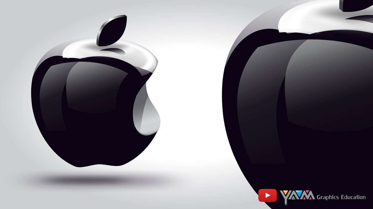 3d apple logo using