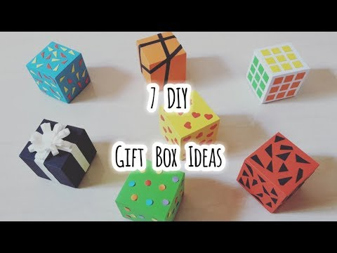 DIY 7 Easy, Cute & Cheap Gift box ideas, using only Paper [ Handmade ] | Dongne Chingu