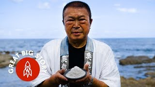 The Japanese Technique for Harvesting Sea Salt by Hand