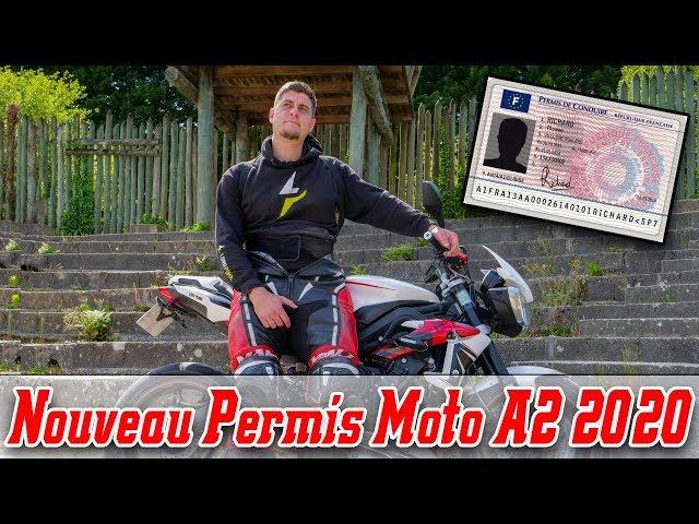 LE NOUVEAU PERMIS A2 MOTO  2020 ? 😨