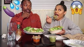 "CHIPOTLE MUKBANG!! EXPOSING OUR ""FIRST TIME\"" TOGETHER!"