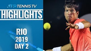 Seeds Thiem, Fognini and Cecchinato upset in first round | Rio 2019 Highlights Day 2
