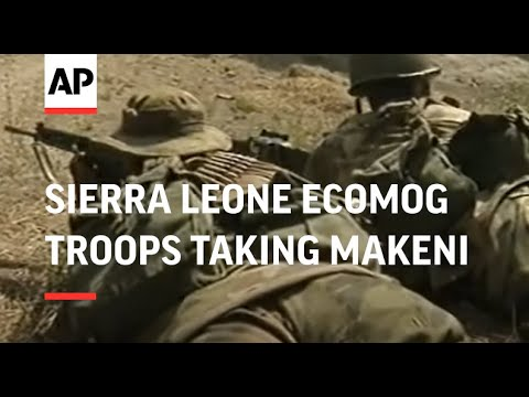 SIERRA LEONE: MAKENI: ECOMOG TROOPS TAKE CONTROL OF TOWN