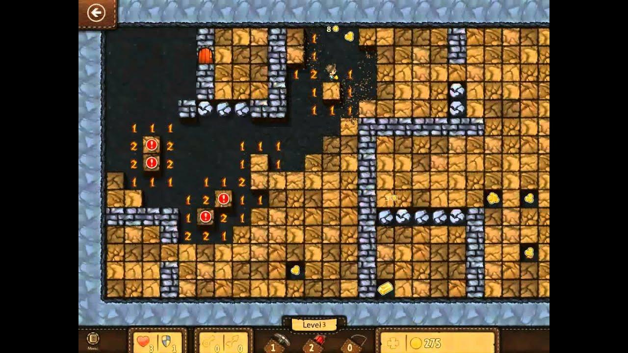 microsoft minesweeper adventure 512 gold level 3 part 2 youtube