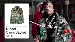 TRIPPIE REDD OUTFITS IN SNAKE SKIN / ICKY VICKY / RACK CITY/LOVE SCARS 2 [TRIPPIE REDD CLOTHES]