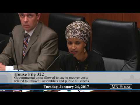 Rep. Ilhan Omar on HF322 at Civil Law Committee – Jan. 24, 2017