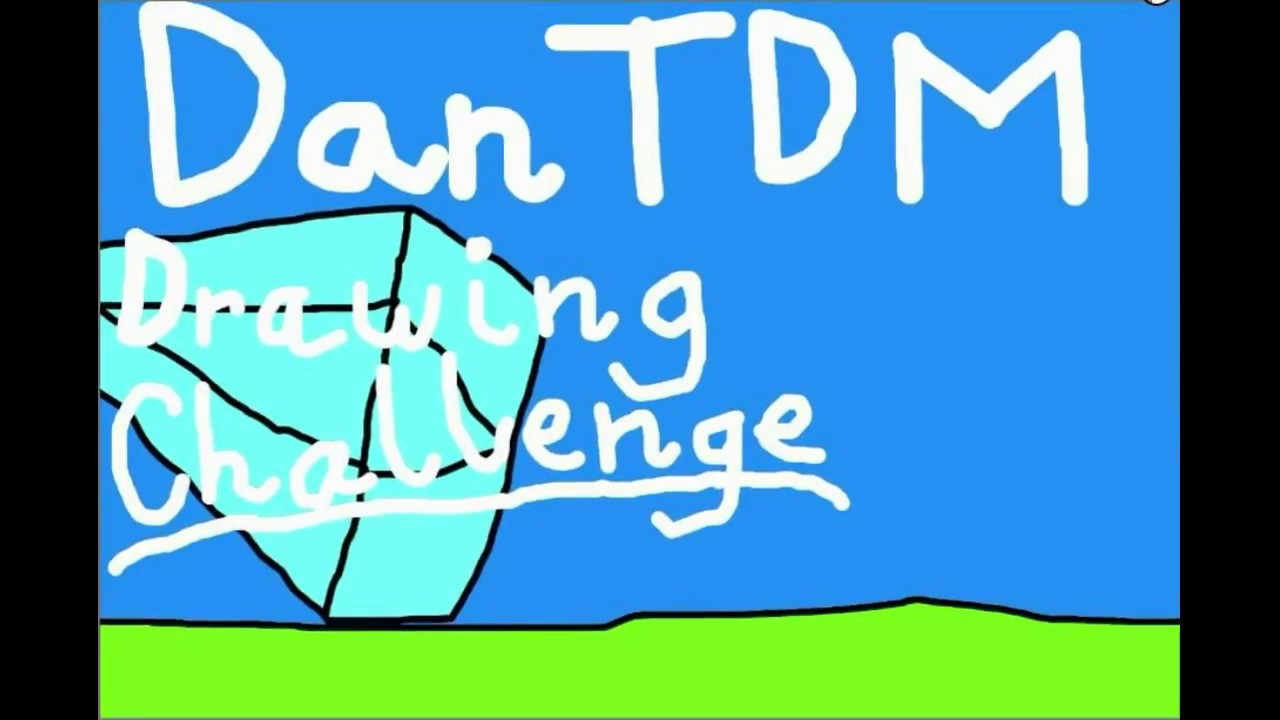 It is an image of Crush Dantdm Drawing Challenge