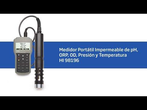 Vídeo Tutorial HI 98196 Medidor Portatil Impermeable De PH/ORP/OD/Presión/Temperatura