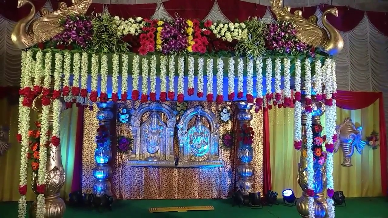 Marriage Wedding Flowers Stage Decoration Video Youtube