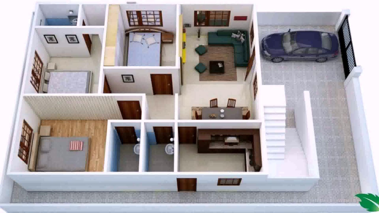 750 Sq Ft House Plans 2 Bedroom Indian Style - YouTube