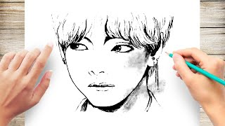 "How to Draw V ""BTS"" - Speed Drawing"