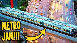 Even the Metro is Choc-a-Block in this Town in Cities Skylines!!!