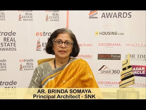 Brinda Somaya, Principal Architect - Somaya & Kalappa Consultants on Estrade Awards 2016