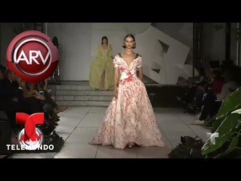 Carolina Herrera presenta diseños para primavera-verano 2018   Al Rojo Vivo   Telemundo