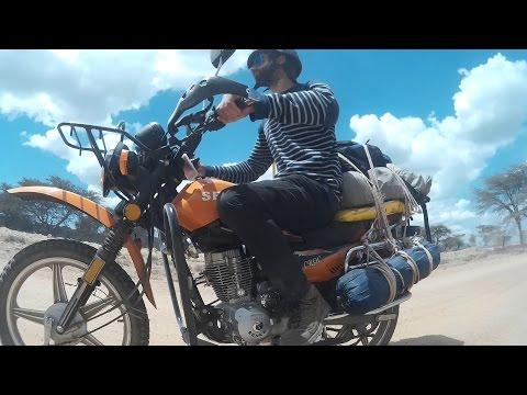 Motorcycle route in Kenya - Self recording video. Ruta en moto en Kenia - Video de auto grabacion.