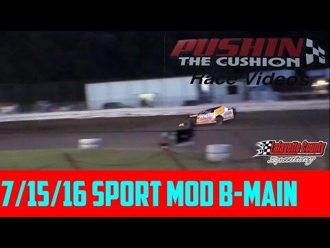 Lafayette County Speedway 7/15/16 Sport Mod B Main
