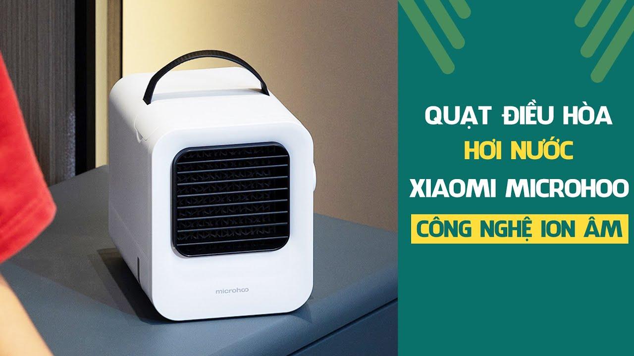 Quạt điều hòa hơi nước mini Xiaomi Microhoo | Công nghệ ion âm hiện đại -  YouTube