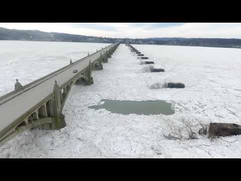 Susquehanna River Ice Build Up 2018