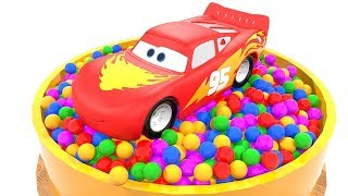 Colorful Car Wheels & Magic Liquids with Lightning Mcqueen Learn Counting and Colors For Kids