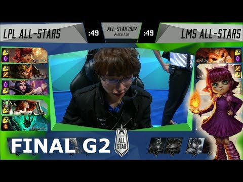 China vs LMS Game 2 | Grand Finals of LoL 2017 All Star | LPL All-Stars vs LMS All-Stars G2