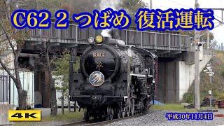 C62 2 つばめ 復活運転 京都鉄道博物館 2018.11.4【4K】
