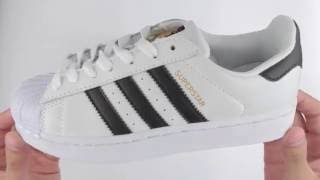 Обзор реплики кроссовок Adidas Superstar с золотыми язычками