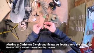 Making A Christmas Sleigh - Pattern 05-wp-220