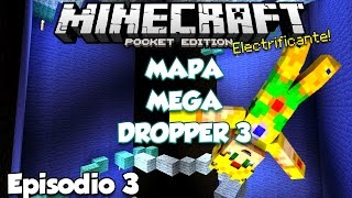 MEGA DROPPER 3 - EP 3 - AREA ILLUMINATI 666 - MINECRAFT PE - MAPAS