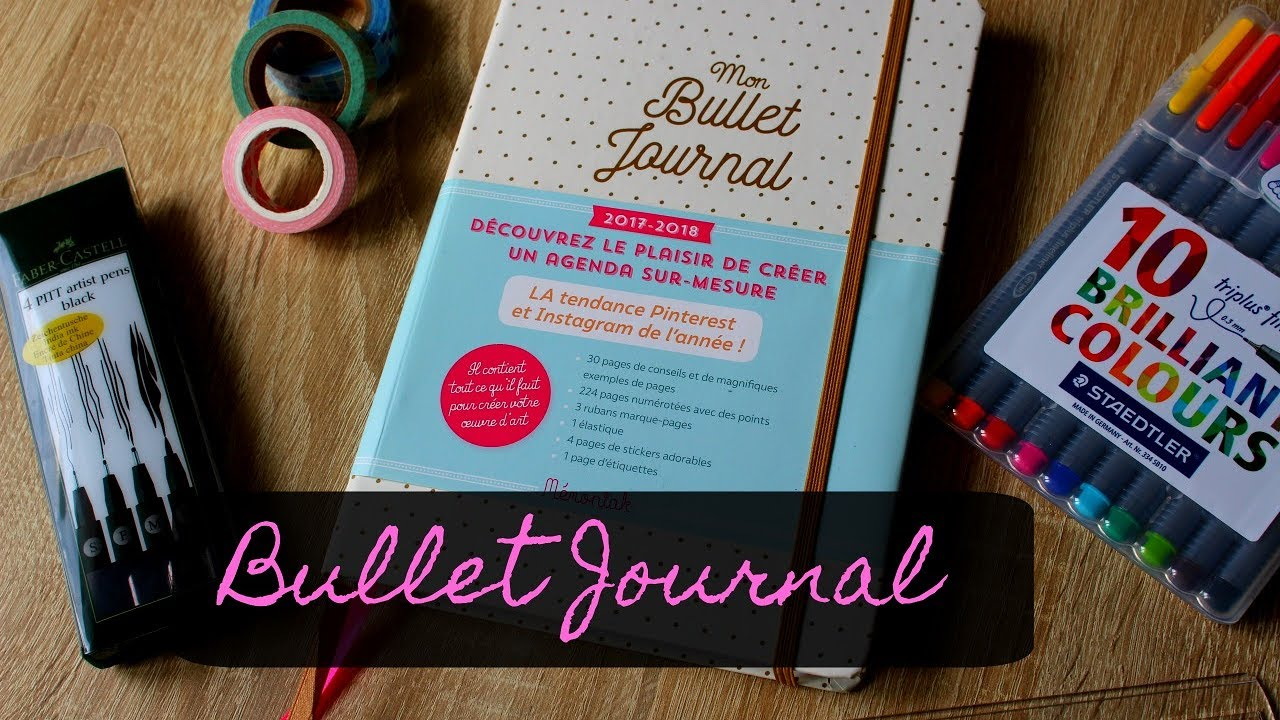 mon mat riel pour d buter un bullet journal youtube. Black Bedroom Furniture Sets. Home Design Ideas