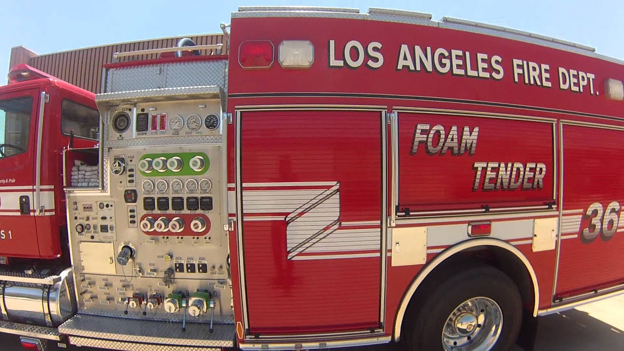 lafd hd foam tender 36 close up at the valley shops youtube. Black Bedroom Furniture Sets. Home Design Ideas