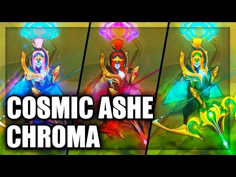 All Cosmic Queen Ashe Chroma Skins Spotlight (League of Legends)