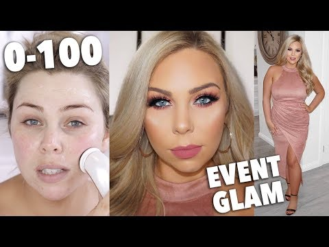 0-100 EVENT GLAM GET READY WITH ME! SKINCARE, MAKEUP & HAIR