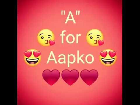 New Stylish Propose Whatsapp Status A B C Alphabet I Love You