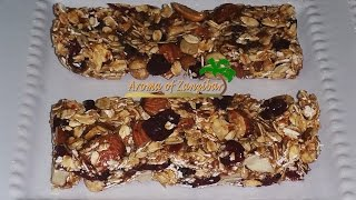 Granola Bar ( No bake) in English