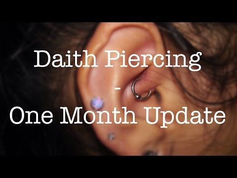 Daith Piercing One Month Update Migraines Swelling Pain